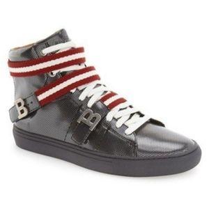 "Bally ""Heilmar"" Carbon Calf Laminated Sneaker"